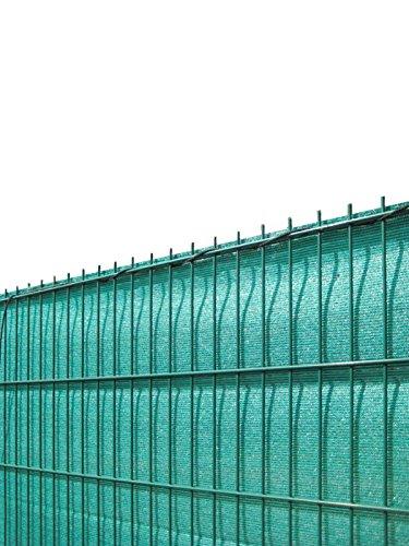 Koll Living Sichtschutz für Stabmattenzäune, grün, 180x500cm - aus reissfestem HDPE - passend für EIN- & Doppelstabmattenzaun - Perfekter Wind- & Sonnenschutz