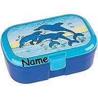 Preisvergleich für Lunchbox * DELFINE plus WUNSCHNAME * für Kinder von Lutz Mauder // Brotdose mit Namensdruck // Perfekt für Mädchen & Jungen // Vesperdose Brotzeitbox Brotzeit (mit Namen)