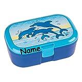 Lunchbox * DELFINE plus WUNSCHNAME * für Kinder von Lutz Mauder // Brotdose mit Namensdruck // Perfekt für Mädchen & Jungen // Vesperdose Brotzeitbox Brotzeit (mit Namen)