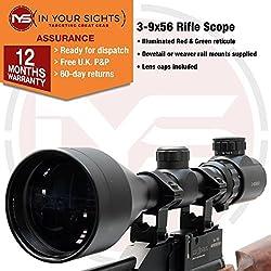 In Your Sights 3–9x 56Lunette de visée, Weaver Mounts (20mm)