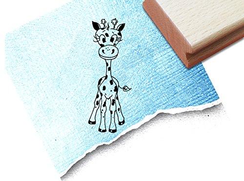 Stempel - Kinderstempel Motiv Baby Giraffe - Bildstempel Motivstempel Geschenk für Kinder - Kita Schule Einschulung Basteln Deko - von zAcheR-fineT