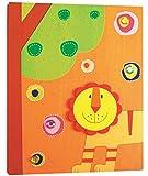 alles-meine.de GmbH Fotoalbum aus Holz -  Löwe  - Photoalbum Kinderalbum 3D Bild - Kinderland - Kinderfotoalbum / Fotobuch - Album Kinder - Erinnerungsbuch - Tiere / Zootiere - Tier