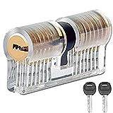 JTENG profilzylinder Schließzylinder Transparents Lockpicking Übungsschloss Schloss Schlössern Vorhängeschlösser Übungszylinder mit 2 Stabilen Schlüsseln für Schlosser Anfänger