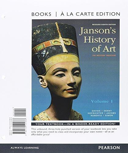 Janson's History of Art Volume 1, Books a la Carte Edition Plus REVEL -- Access Card Package (5th Edition) by Penelope J.E. Davies (2015-06-18)