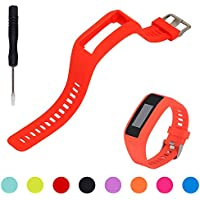 For Garmin Vivosmart HR Activity Tracker Replacement Watch Band - iFeeker Accessories Adjustable Soft Silicone Replacement Wrist Watch Strap Band Bracelet with Free Installation Screwdrivers for Garmin Vivosmart HR Activity Tracker Smart Watch (No Tracker, Replacement Band Only)