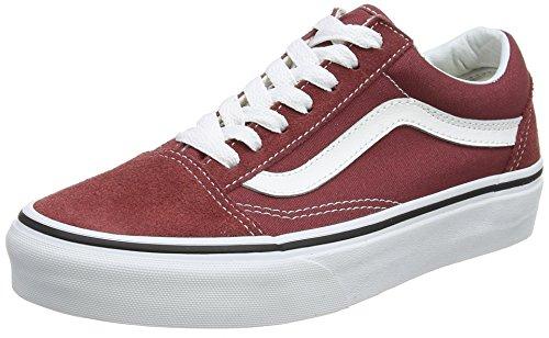 Vans Für Männer Sneaker Rote (Vans Unisex-Erwachsene Old Skool Sneaker, Rot (Apple Butter/True White Q9s), 36 EU)
