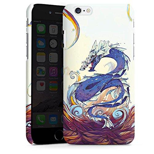 Apple iPhone X Silikon Hülle Case Schutzhülle Drache Wasser Fantasie Premium Case matt