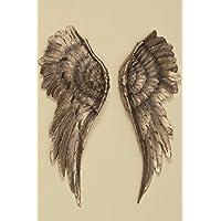 Decorazione Parete Ali D'angelo 2 Pezzi Oro Antico 54x22cm Ali