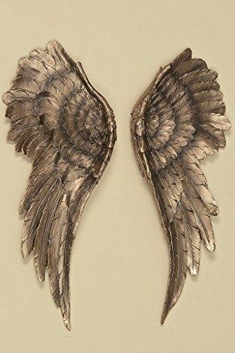 el 2 Stück Antik Gold 54x22cm Flügel Engel Dekoration ()