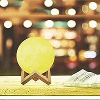 Luz led,Usb recargable noche luz creativa luna luz tricolor toque romántica lámpara de mesa de mesa para decoración de 8cm de diámetro-A