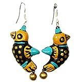 Purpledip Terracotta yellow earring for ...
