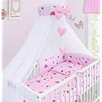 Babymam BABY CANOPY DRAPE MOSQUITO NET WITH HOLDER TO FIT COT & COT BED (HELLO KITTY)