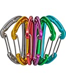 Edelrid Unisex- Erwachsene Karabiner Mission Sixpack VPE6, Assorted Colours (900), One Size