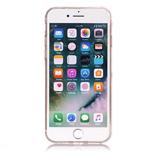 Slynmax Ultra Thin Trasparente TPU Cover per iPhone 7 / iPhone 8 Custodia Silicone Caso Colorato Molle di Morbido Sottile Gel Transparent Bumper Case Protettiva Caso Chiaro Copertura Slim Thin Skin Sh Morbido TPU #1
