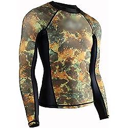 UICICI Combinaison de plongée Camouflage Combinaison de plongée en apnée Lycra Combinaison de plongée plongée Chasse méduse Hommes (Couleur : Coat, Size : XL)