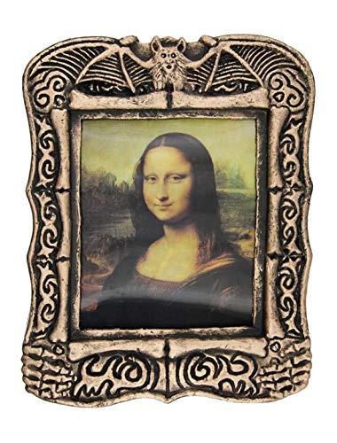 Wilbers Gemälde Mona Lisa mit Skeletteffekt (Mona Lisa Kostüm)