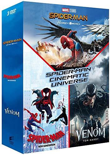 Coffret spider-man cinematic universe 3 films : homecoming ; new generation ; venom [FR Import]