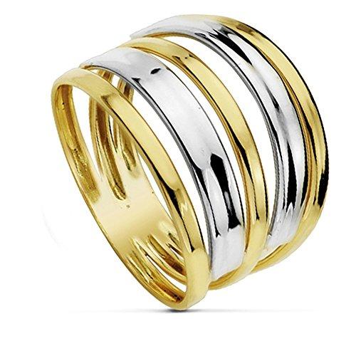 Multiband-Ring 18 Karat Bicolor [AA7252]