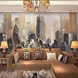 Poowef 3D Wallpaper der antiken Stadt Öl malerei Wandbild Gebäude nahtlose Fernseher Sofa im Wohnzimmer Wandbilder benutzerdefinierten Hintergrundbilds