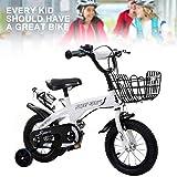 Q&J Vélo pour Enfants pour Filles et garçons à partir de 3, 4, 5, 6, Ans, Guidon...