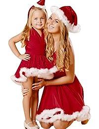 Goodsatar Mujeres y niñas Navidad sólido Sin Underwrap Xmas noche vestido de fiesta