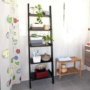 Sobuy frg17 sch tag re murale style chelle tag re for Colonne de separation et de rangement pour salle de bain
