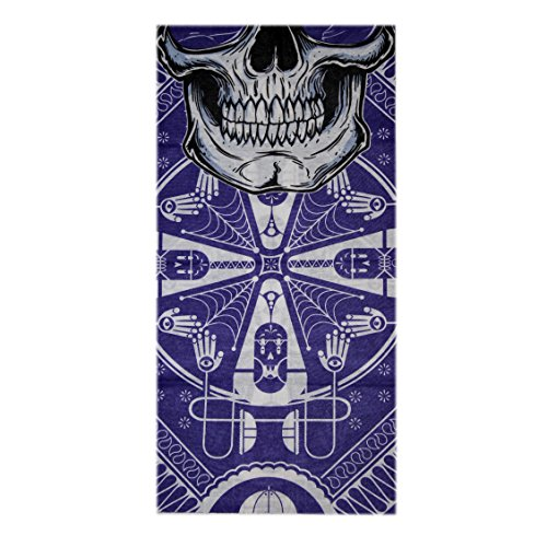 Spark Blue Web Skull mask 13 in 1 Multipurpose, Multifunctional Unisex stylish Free size Headwarp Bandana Cap Face Mask for cycling/Bikers Racer made from Polyster Cotton Lycra protect from Dust, Sunlight and wind  available at amazon for Rs.99