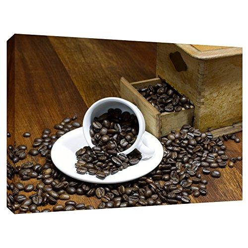 Modern Picture Leinwanddruck Leinwand Kaffeebild Kaffeebohnen Espresso Küchenbild Kaffeemühle 60 x 40 cm - Espresso Leinwand
