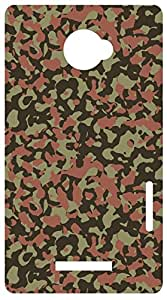 Military Camouflage Terrain Brown Back Cover Case for HTC One X