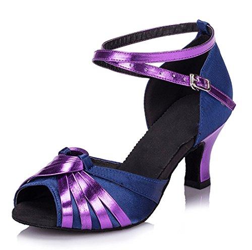 TDA ,  Damen Knöchel-Riemchen 6cm Heel Blue