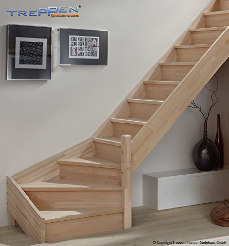 Profigold Section Timber Savoy Beech/Spruce ¼ Coiled Right or Left, No Handrail
