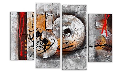 Arte Dal Mondo AY053QX1 Wandverzierung Abstrakt Acryl Gemälde auf Leinwand von Hand Dekoriert, Acryl, Bunt, 120.0 x 100.0 x 3.0 cm