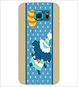 PrintDhaba Cartoon D-5807 Back Case Cover for SAMSUNG GALAXY S6 EDGE (Multi-Coloured)