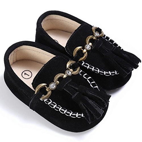 12~18 Monate Schwarz Jamicy® Krippe Soft Prewalker Schwarz Baby Niedliche Comfort Loafers Kleinkind On Slip Schuhe wB7nxq17PA