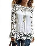 MRULIC Frauen Casual Basic Sommer T-Shirt Oberteile Kurzarm Damen Schönes Geschenk für Mama(S2-Weiß,EU-36/CN-M)