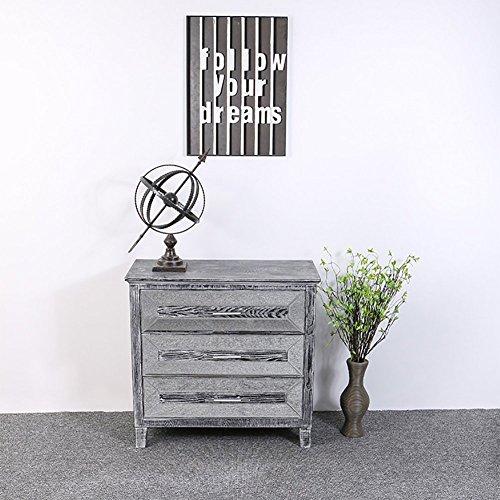 LongYu Vintage Schublade Schließfächer Schlafzimmer Schränke Blume Regal Lagerregal Größe 80 * 36 * 76 cm (Hochzeit Blumen-mittelstück Tisch)