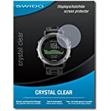 "2 x SWIDO protecteur d'écran Garmin fenix 3 film protecteur feuille ""CrystalClear"" invisible"