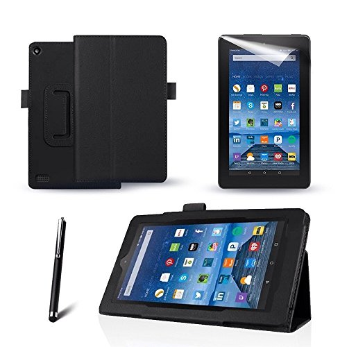 black-kindle-fire-hdx-89-black-flip-leather-case-cover-multi-function-flip-folio-stand-with-magnetic