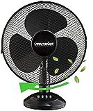 Tischventilator Ø30 cm 40 Watt   Ventilator   Rotation zuschaltbar   oszillierend   leiser Betrieb   Luftkühler   Windmaschine   geeignet für Büro, Schlafzimmer, Wohnzimmer  