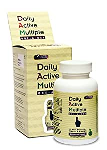 Zenith Nutrition Daily Active Multiple (One-A-Day Multivitamin) with added antioxidants (Lycopene, Acai, Astaxanthin, Piperine) - 60 Veg Capsules