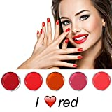 I Love Red Farbgel Set 5 x 5 ml