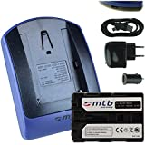 Baterìa + Cargador (USB/Coche/Corriente) FM500H para Sony DSLR Alpha A200 A300 A350.../SLT-A57 A58 A65...