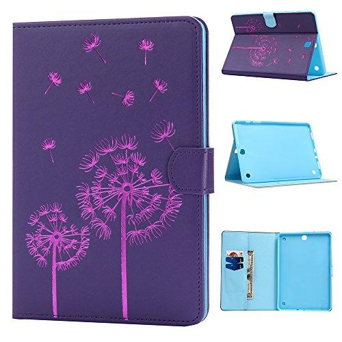 Galaxy Tab 4 8.0 Pulgada Funda,UK Cherry Exquisitos patrones pintados Voltear Soporte de soporte Funda Protectora para Samsung Galaxy Tab 4 8.0 Pulgada SM T330/T331/T335 (Púrpura)
