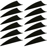 MagiDeal 12 Pcs Establecer Plumas de Flecha Accesorio de Tiro con Archero Multiusos - Negro, 12 Piezas