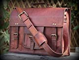VALENTINE GIFT BY INDIARTVILLA Vintage Leather Laptop Bag 13″ Messenger Handmade Briefcase Crossbody Shoulder Bag