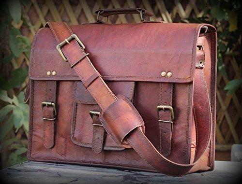 VALENTINE GIFT BY INDIARTVILLA Vintage Leather Laptop Bag 13″ Messenger Handmade Briefcase Crossbody Shoulder Bag