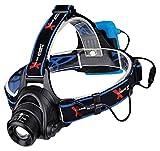 Xtreme Bright Pro X55 Headlamp, Led Stirnlampe ideal zum Joggen, Campen, Radfahren-350 Lumen LED Beleuchtung (3 Modi) 150 m Reichweite. Wasserfest & einstellbare Kopfbänder