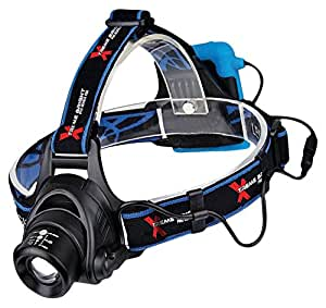 Xtreme Bright® Pro Series X55 Headlamp-Head Torch Ideal for Running, Camping, Biking, Power Sports-350 Lumen LED Light (3 Settings)-Illuminates Up to 500 Ft. For Optimal Night Time Safety - Adjustable to Fit Kids and Adults. 100% Lifetime Guaranteed