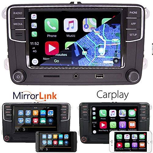 6,5 cm Auto Stereo-Radio CarPlay Mirrorlink Bluetooth für VW Golf Caddy Touran CC - Carplay-radio