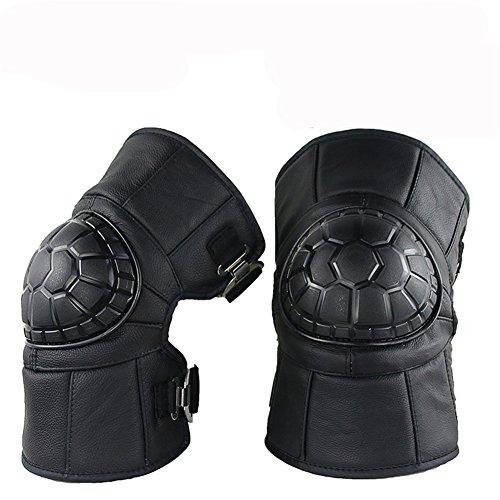 Motorrad Knieschützer Knieprotektor Knee Schutz Protector Schutzausrüstung für Motocross Erwachsene schwarz